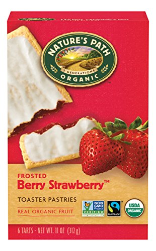 Nature's Path Organic Toaster Pastries, Frosted Berry Strawberry, 6 Count Box (Pack of 12)