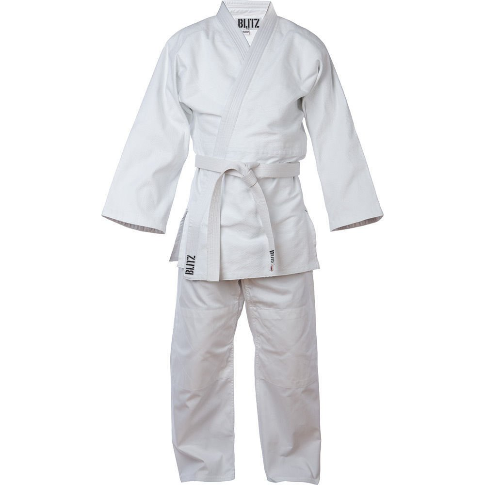 White Kids JUDO CONTEST Uniform// SUIT,Single Weave 350 GSM WIth Free White Belt