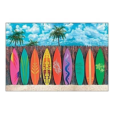 Fun Express Surfs Up Surfboard Backdrop Banner Set