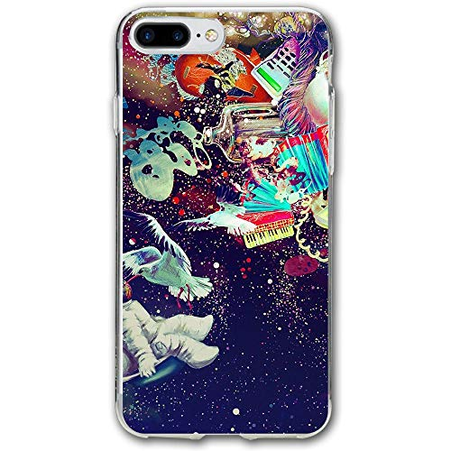 Space Bird People Resistant Cover Case Compatible iPhone 7 Plus iPhone 6 Plus 5.5IN -