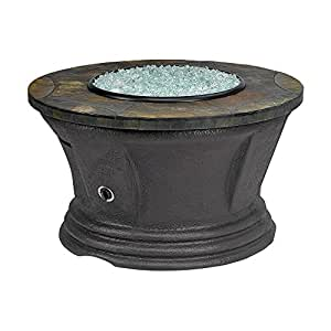 "Fire Pit American Fire San Simeon Round Fire Pit With 42"" Rusty Slate Mosaic Top FCPAFP-SAN-RDSLATE-42"