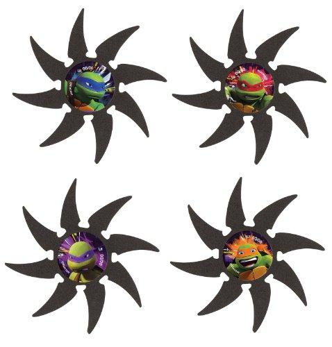 Foam Teenage Mutant Ninja Turtles Throwing Star Party Favors, 4ct