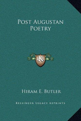 Post Augustan Poetry ebook