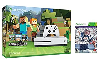 Xbox one S Console Bundle 2 items:Xbox One S 500GB Console - Minecraft Bundle,Madden NFL 17 Game Disc