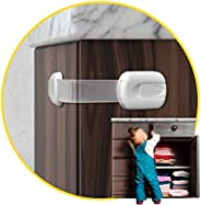 Child Safety Cabinet Locks for Babies (14 Pack) Child Proof Latches Locks for Cabinets and Drawers Doors, Baby