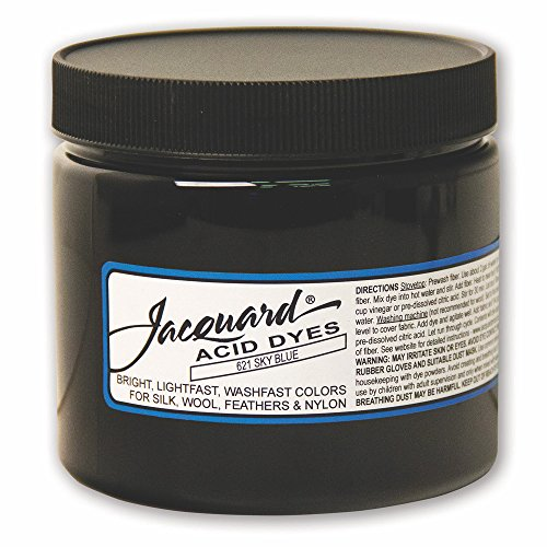 Jacquard Acid Dye for Wool, Silk and Other Protein Fibers, 8 Ounce Jar, Concentrated Powder, Sky Blue 621 by Jacquard