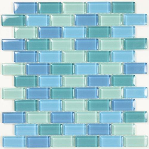 Turquoise Blue Glass Tile Blend 1