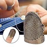 Haofy Anillo de Costura para Dedos, Tope Deslizante, Dedal de Metal para Costura, Acolchado y Manualidades DIY Craft Protector de Dedos (#1)