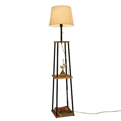 Lámparas de pie DD Madera Maciza - Rack De Estudio - Lámpara ...