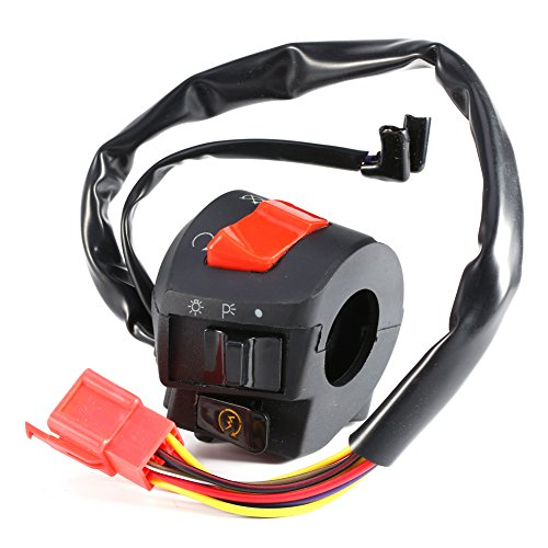 Motorcycle 7/8 Handlebar Horn Turn Signal Headlight Electrical Start Switch