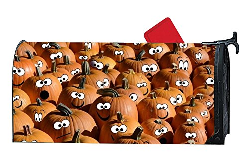 BABBY Naughty Pumpkin Mailboxes Cover Rust-Proof Mail Box Covers Large Capacity Post Mouth Letter -