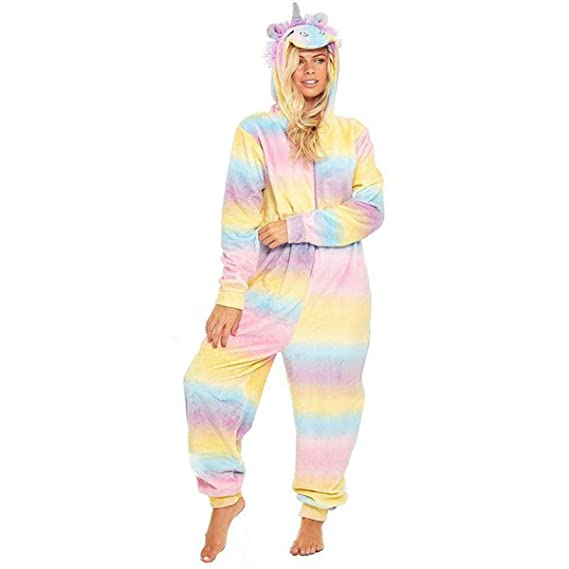 0c3639c15 Ladies Womens Snug Onesie Adult All in One Fleece Zip Jumpsuit ...