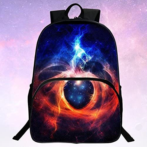 ZLHLL School Backpack Unisex Fashion Galaxy Pattern School Bags College Casual Laptop Rucksack for Teen Boys and Girls