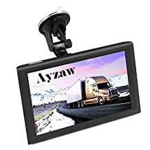 Ayzaw 9 inch Truck GPS Tablet Navigation System with Lifetime Map Free Updates,with Spoken Turn-By-Turn Directions,and Speed Limited Displays,Direct Access