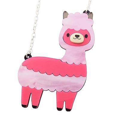 Llama Alpaca Acrylic Necklace