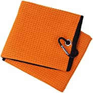 SM SunniMix Breathable Lightweight Golf Towel with Carabiner Clip Absorb Sweat Towel Outdoor Fitness Accessori