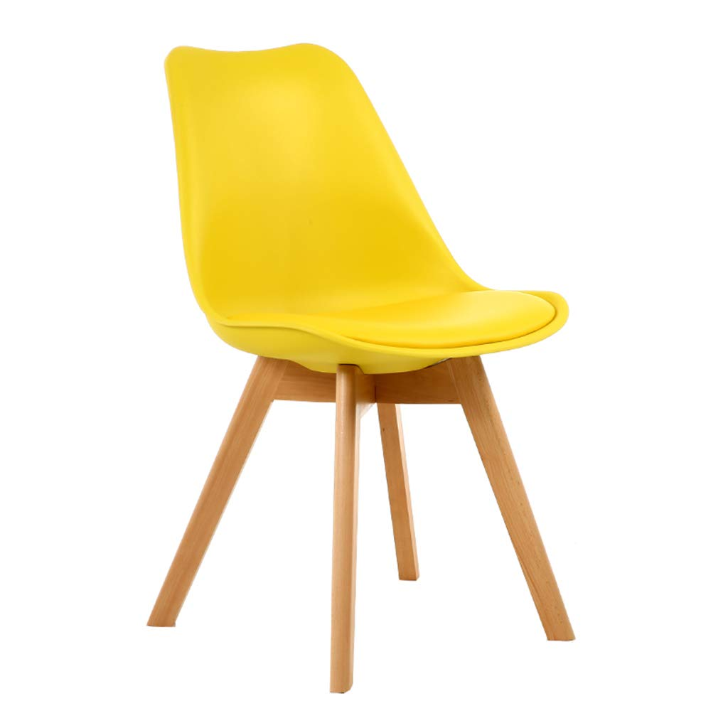 D Solid Wood Chair,Nordic Minimalist Style PU Cushion Stools, Combination Assembly Negotiation Dining   Leisure Chair,Sitting Height  46Cm,A