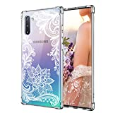 Case for Galaxy Note 10,Cutebe Shockproof Series Hard PC+ TPU Bumper Protective Case for Samsung Galaxy Note 10 2019 Release Crystal Lace Design