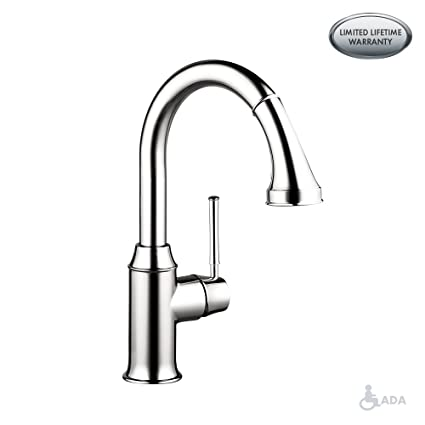 hansgrohe Talis C Premium 1-Handle 15-inch Tall Kitchen Faucet with Pull  Down Sprayer Magnetic Docking Spray Head in Chrome, 04215000
