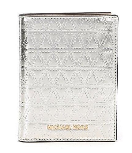 Michael Kors Quilted Metallic Passport Wallet, Champagne