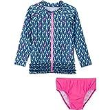 Best SwimZip Bathing suits - SwimZip Little Girl Zipper long Sleeve Orange Rash Review