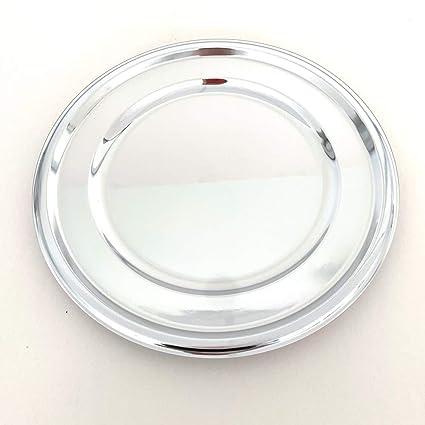 Extiff - Juego de 10 bandejas Redondas de plástico Metalizado ...