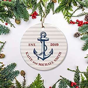 517q5SFHQtL._SS300_ 75+ Anchor Christmas Ornaments