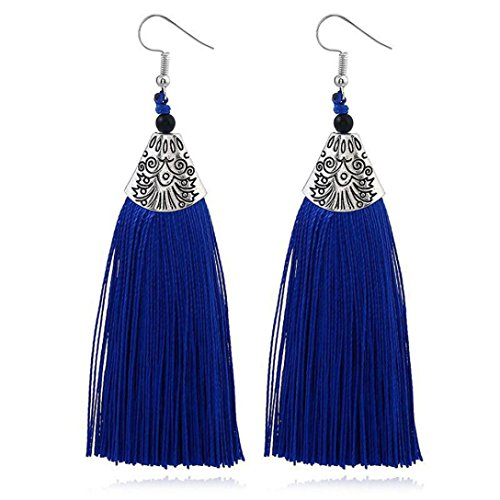 Beuu Jumping Property Prices Women Fashion Rhinestones Wool Tassels Earring Gorgeous Jewelry Retro Jewelry Earring Women'S Fashion Stud Elegant Silver Classics Pearl Dangle Gold Vintage (E) (Gorgeous Wool)
