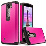 LG Phoenix 2 case, LG Treasure case Slim Dual Layer Hybrid Armor Protector Case LG Treasure / LG Phoenix 2 - Magenta [D'eJoy™ Slim Series]