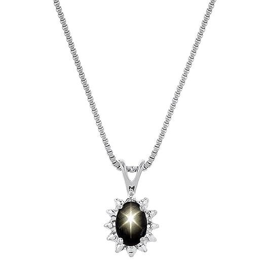 Amazon diamond black star sapphire earpendant necklaces 14k diamond black star sapphire earpendant necklaces 14k yellow or 14k white gold aloadofball Choice Image