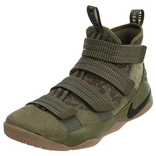 Nike Herren Lebron Soldier 10 Basketballschuhe Medium Olive, Schwarz-Schwarz