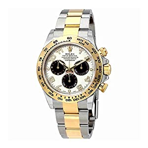Rolex Cosmograph Daytona Stainless Steel and 18K Yellow Gold Automatic Mens Watch 116503IBKAO