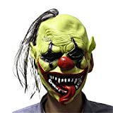 Scary Mask - 2018 Scary Mask With Wig Hair Green Face Clown Latex Masks Lightweight Costume Party Bar - Pack Rubies Goblin Trump Grim Plastic Airsoft Baby Texas Funny