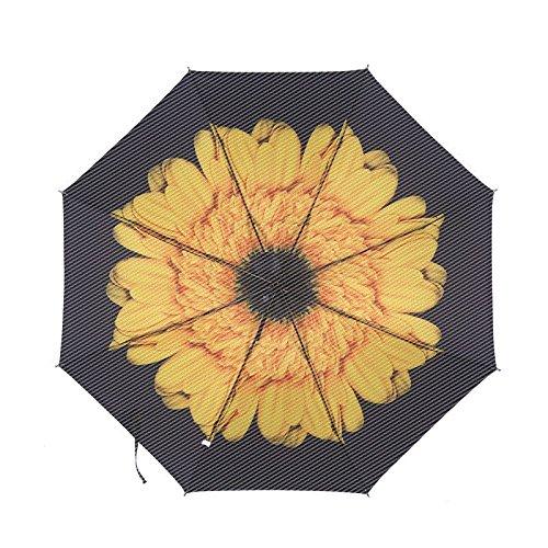 ZQ@QXPiegare il creative in gomma nera ombrelloni sunscreen uomini ombrello, H
