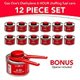 Gas One 12 Pack-6 Hour Cooking Fuel Wick Liquid