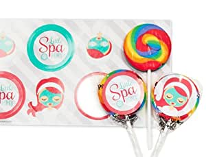 Little Spa Salon Makeover Party Supplies - Lollipop Favor Kit (16)