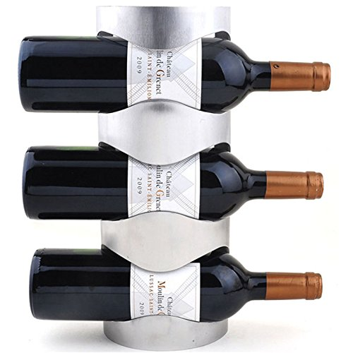 OKOKMALL US--Excellent Houseware Metal Wall Mounted 3/4 Bottle Wine Holder Storage Rack HP by OKOKMALL US