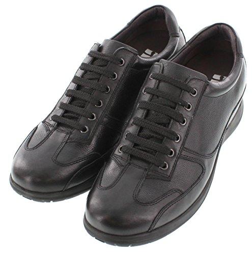 Toto-H9103-6,1cm Grande Taille-Hauteur Augmenter Chaussures ascenseur (en cuir noir à lacets Sneakers)