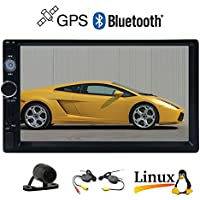 EinCar 7 inch HD Touch Screen Car MP5 Player Bluetooth IN dash Remote Control Double Din Car Stereo Radio 2 Din FM/AM USB/SD/AUX 1080P Auto Video Audio + Free Wireless Backup Reversing Camera