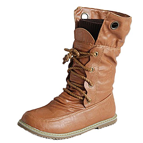 Rotonda Boots Giallo Britannico Donna Stivali Bassi Inverno con Corto Minetom Stivaletti Autunno Martin Stile Scarpe Tacco Tubo Punta Mode HfFc7