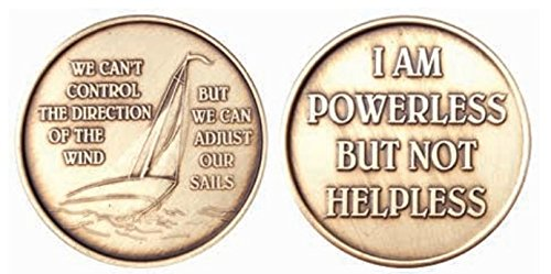 Wendells We Cant Control the Wind But We Can Adjust Our Sails - Bronze Sailing Medallion - Powerless Not Helpless