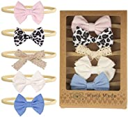 Mespok Baby Girl Headbands and Bows Gift Wrap for Girls Hair Accessories Gift - 5 Pack