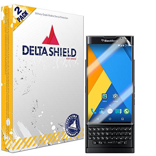 DeltaShield Screen Protector for BlackBerry Priv (2-Pack) BodyArmor Anti-Bubble Military-Grade Clear TPU Film