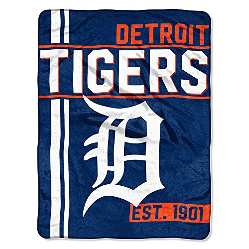 Tigers Fleece (The Northwest Company MLB Detroit Tigers Micro Raschel Throw, One Size, Multicolor)
