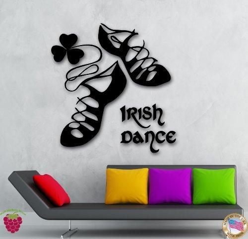 Wall Stickers Vinyl Decal Ireland Irish Dance Dublin Celtic Stepdance Ghillies (ig253)