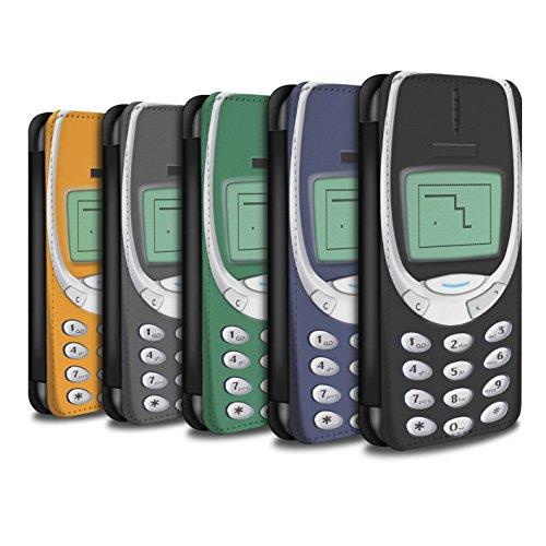 STUFF4 PU-Leder Hülle/Case/Tasche/Cover für Apple iPhone SE / Nokia 3310 Multipack Muster / Vintage Handys Kollektion