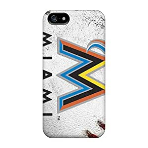 High Quality Mxcases Miami Marlins Skin Case Cover Specially Designed For Iphone - 5/5s