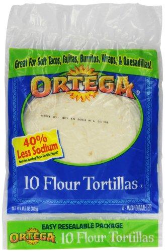 Ortega Flour Tortillas, 14.3 Ounce (Pack of 12)