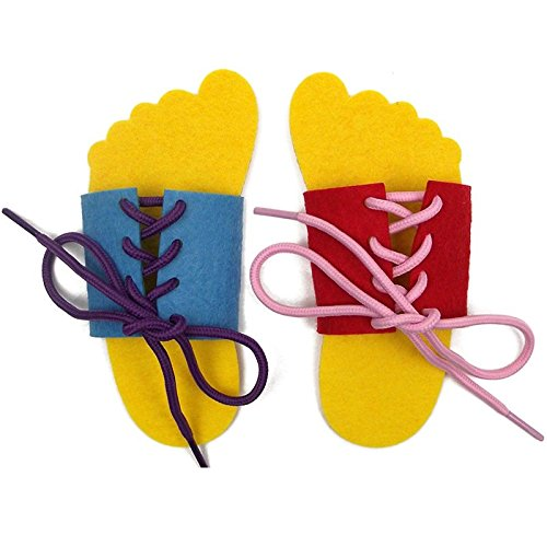 Yoovi Early Learning Basic Life Skills Learn to Dress (Shoes) – Lace 1 pair