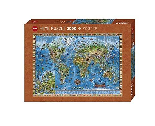 Heye Amazing World 3000 Piece Map Jigsaw Puzzle (Amazing Puzzles)